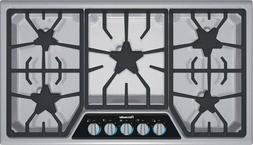 """Thermador 36"""" SS Masterpiece Gas XLO Simmer Cooktop SGSX365F"""